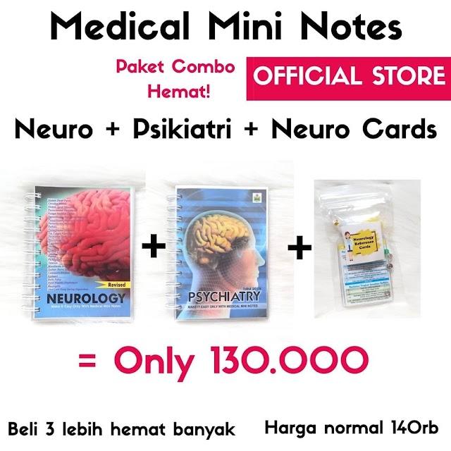 Paket MMN (Medical Mini Notes) Neuro+Psikiatri+Neuro Cards