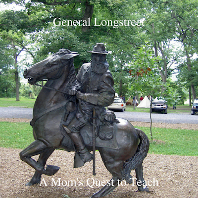 photography of statue of Longstreet at Gettysburg