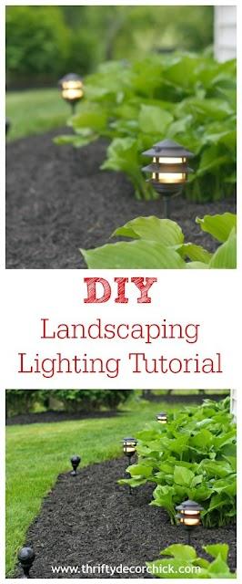 DIY landscape lighting tutorial