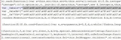 javascript original con variables encriptadas