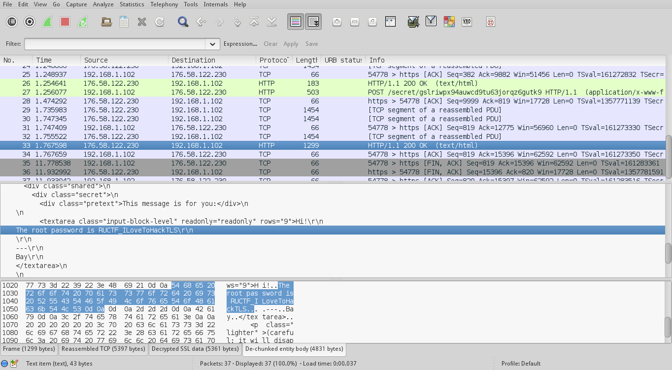 Dragon Sector: RuCTF 2014 Quals - TLS (Crypto 300)
