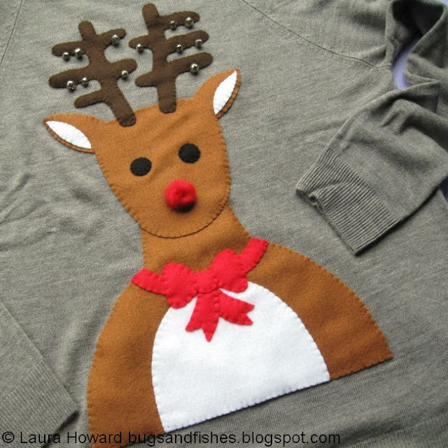 Tutorial: DIY Reindeer Novelty Christmas Jumper