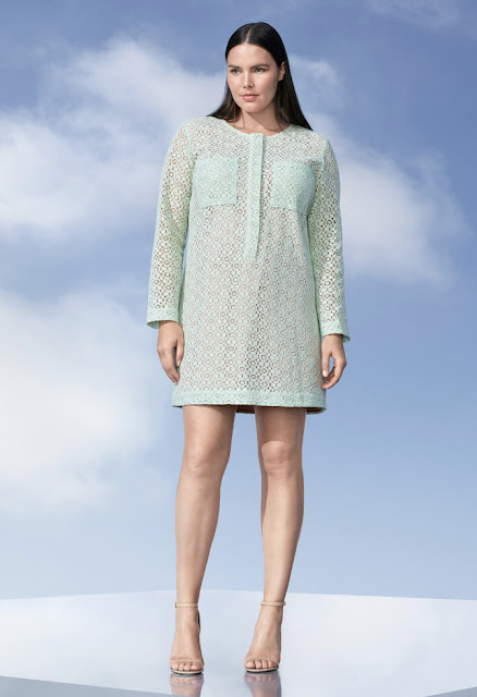 Victoria Beckham for Target mint green lace dress