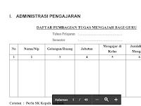 Contoh Format Administrasi Kepala Sekolah Lengkap File Word