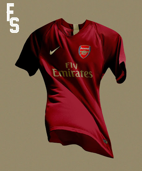 cheap for discount 71bf5 e5554 Nike Arsenal 18-19 Home Kit Concept by Franco Sosa - Footy ...