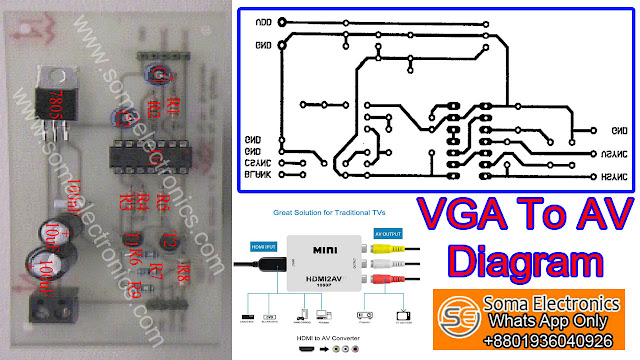 How To Make A Vga To Av Cable Diagram Schematic