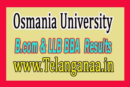 Osmania University (OU)B.Com LLB & BBA LLB Exam Results Download