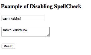 menonaktifkan spellcheck pada laman html