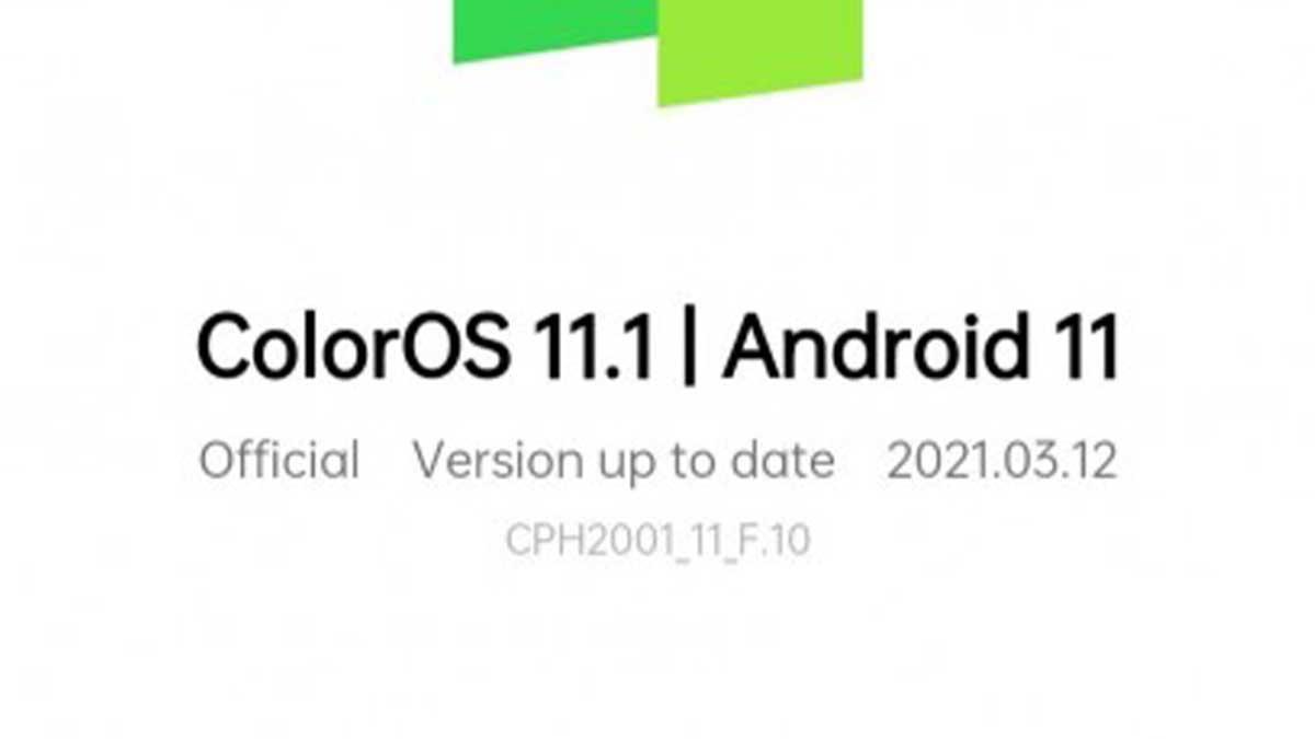 يتلقى هاتف Oppo F15 تحديث ColorOS 11.1 المستندة إلى الاندرويد 11