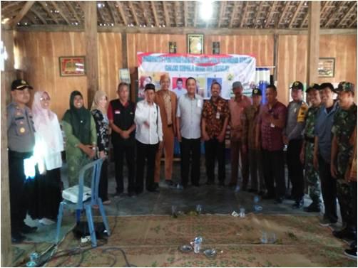 Danramil Sukodono Bersama Kapolsek Memantau Kampanye Penyampaian Visi Misi Calon Kepala Desa Baleharjo