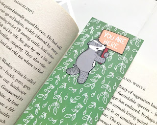 You Are Here Badger Bookmark