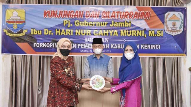 Pj Gubernur Jambi Sambangi Kabupaten Kerinci, Dialog dengan Bupati dan Forkopimda