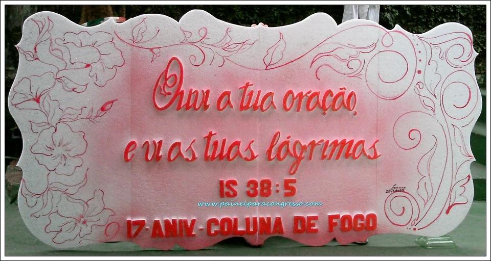 Painel decorativo para círculo de oração   / Isaías 38:5