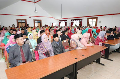 Suasana acara pelantikan 187 Kepala Sekolah tingkat SD dan SMP se-Kabupaten Agam
