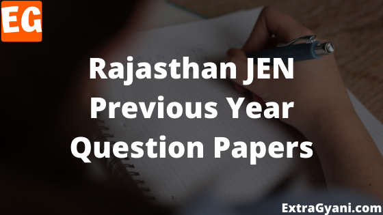 Rajasthan JEN Previous Year Question Papers