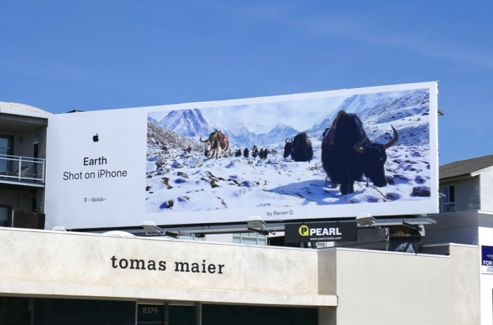 Earth Shot on iPhone Renan O Yak billboard