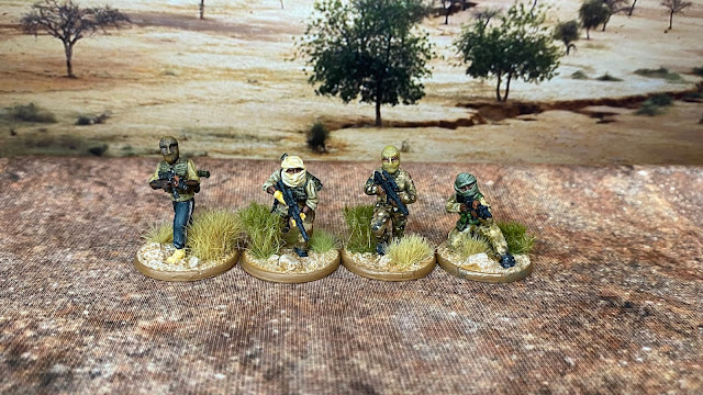 Empress Miniatures 28mm (ish) Insurgents used as African Islamic terrorist insurgents