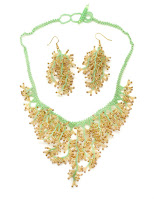 Dunitz Beaded Coral Necklace & Earrings