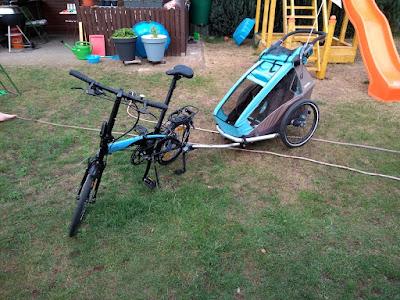 Faltrad mit Kinderanhänger (Gründe für ein Faltrad)