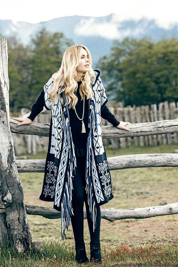 Moda invierno 2016 sacos moda invierno 2016 India Style.