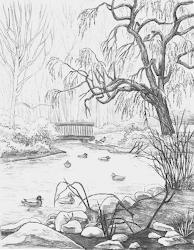 landscape drawing hunter drawing1 kim