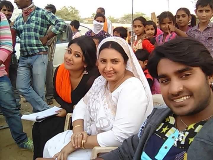 Priyanka Pandit Deewane Bhojpuri Movie Shooting stills, Deewane Bhandar Bhojpuri Movie