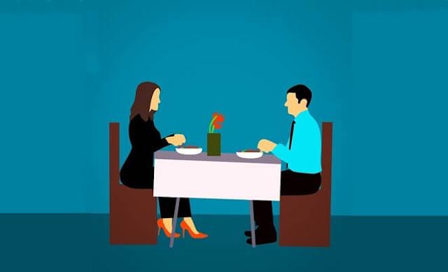 menyatakan cinta di restoran