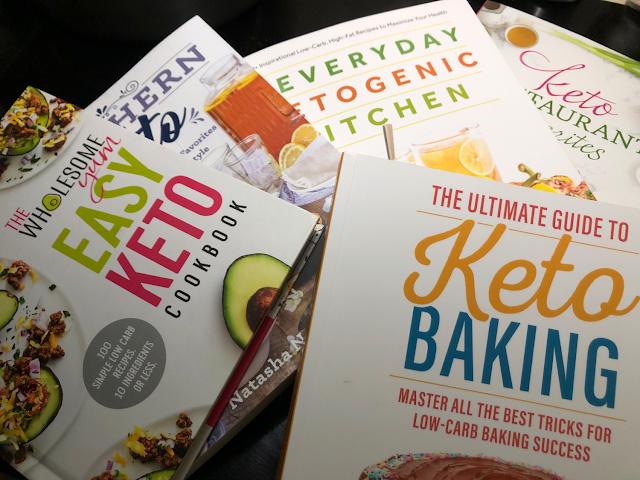 Keto cookbooks and baking books