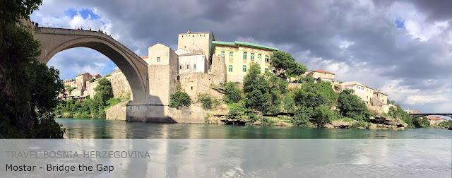 Travel Bosnia-Herzegovina. Mostar. Bridge the Gap