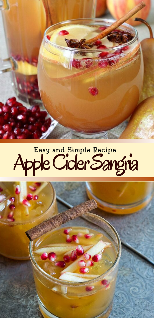 Apple Cider Sangria  #healthydrink #easyrecipe #cocktail #smoothie