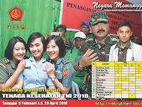 Penerimaan Tenaga Kesehatan TNI Hingga April 2018