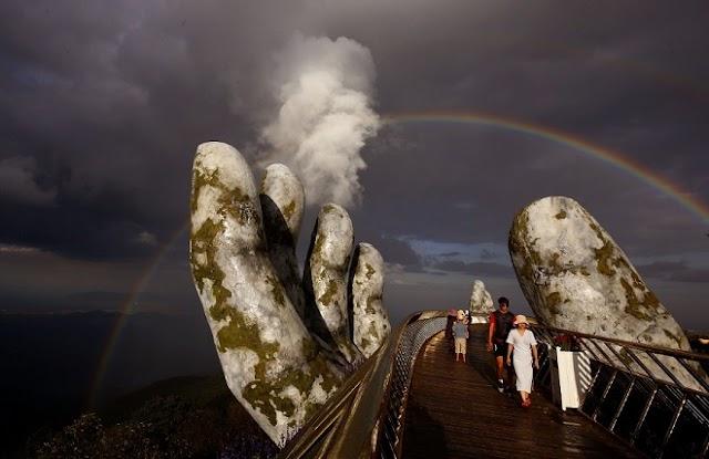 Golden Bridge in unbelievably beautiful moments