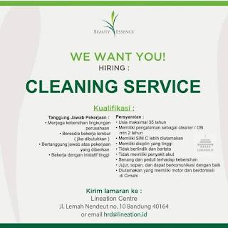 Lowongan Kerja Cleaning Service Lineation Centre Bandung