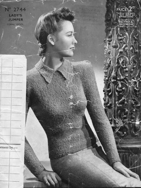 The Vintage Pattern Files: Free 1930s Knitting Pattern - Margaret Patons & Baldwins No. 2744