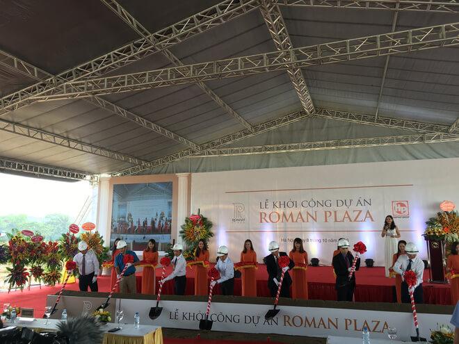 lễ khởi công chung cư roman plaza