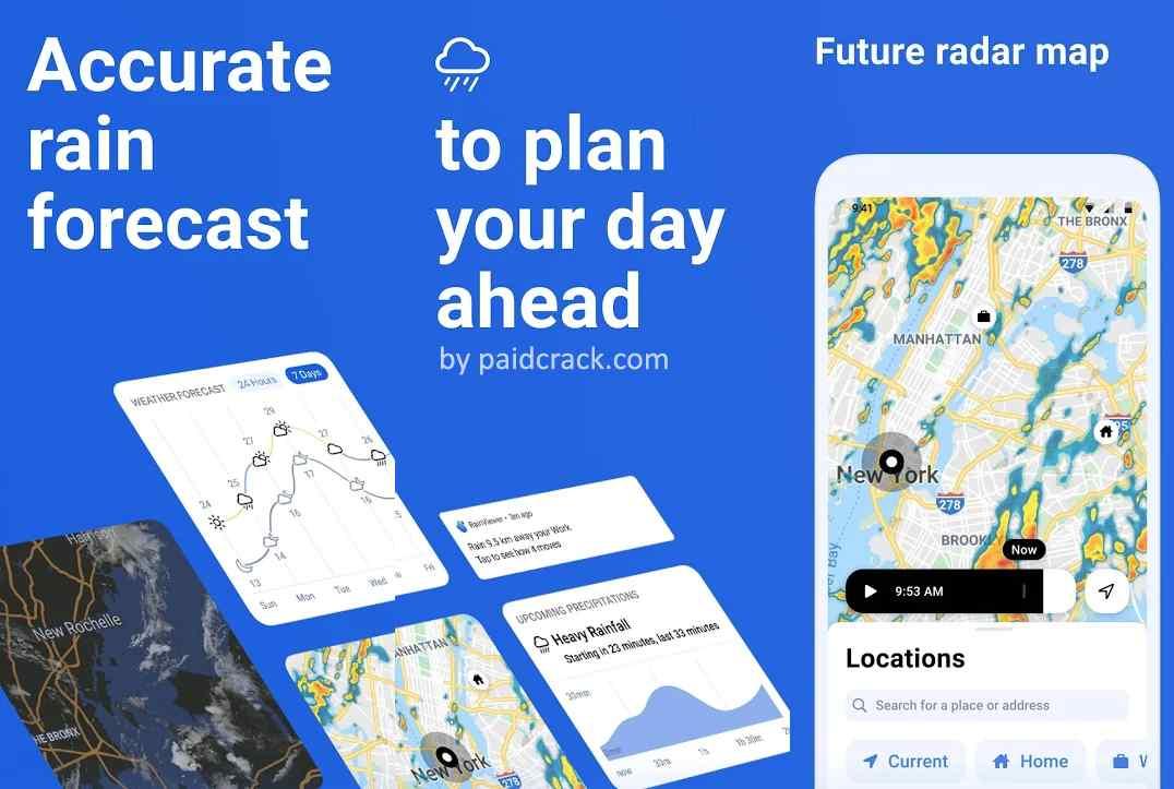 RainViewer Weather forecast & storm tracker Premium Mod Apk 2.4.2