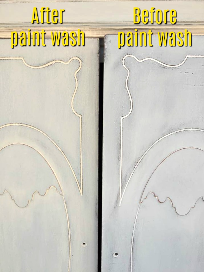 Before and after paint wash.