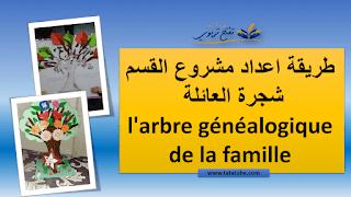 ما تحتاجه لاعداد مشروع القسم شجرة العائلة بالعربية و الفرنسية