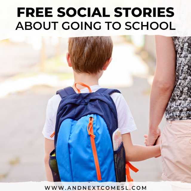 Free social stories about going back to school