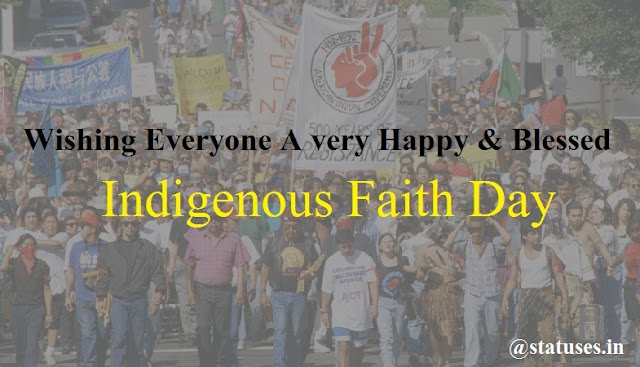 Happy Indigenous Faith Day wishes and greeting