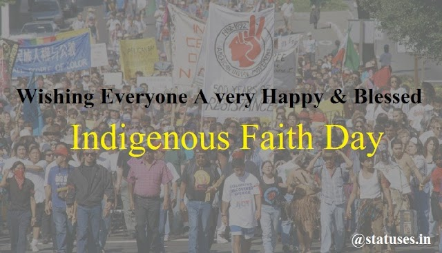 Happy Indigenous Faith Day Wishes and Greetings
