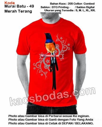 Kaos Murai batu 49 - Merah