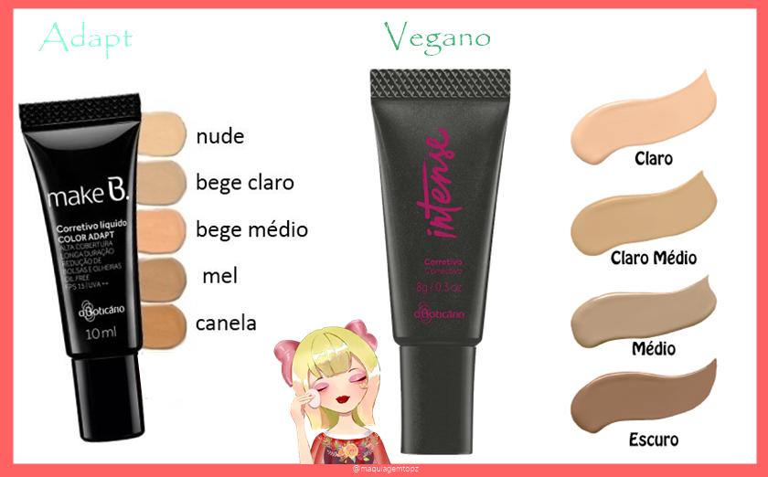 Corretivo Boticário vegano e adapt