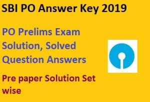 IBPS PO Prelims Answer key all shift Paper Solution set wise