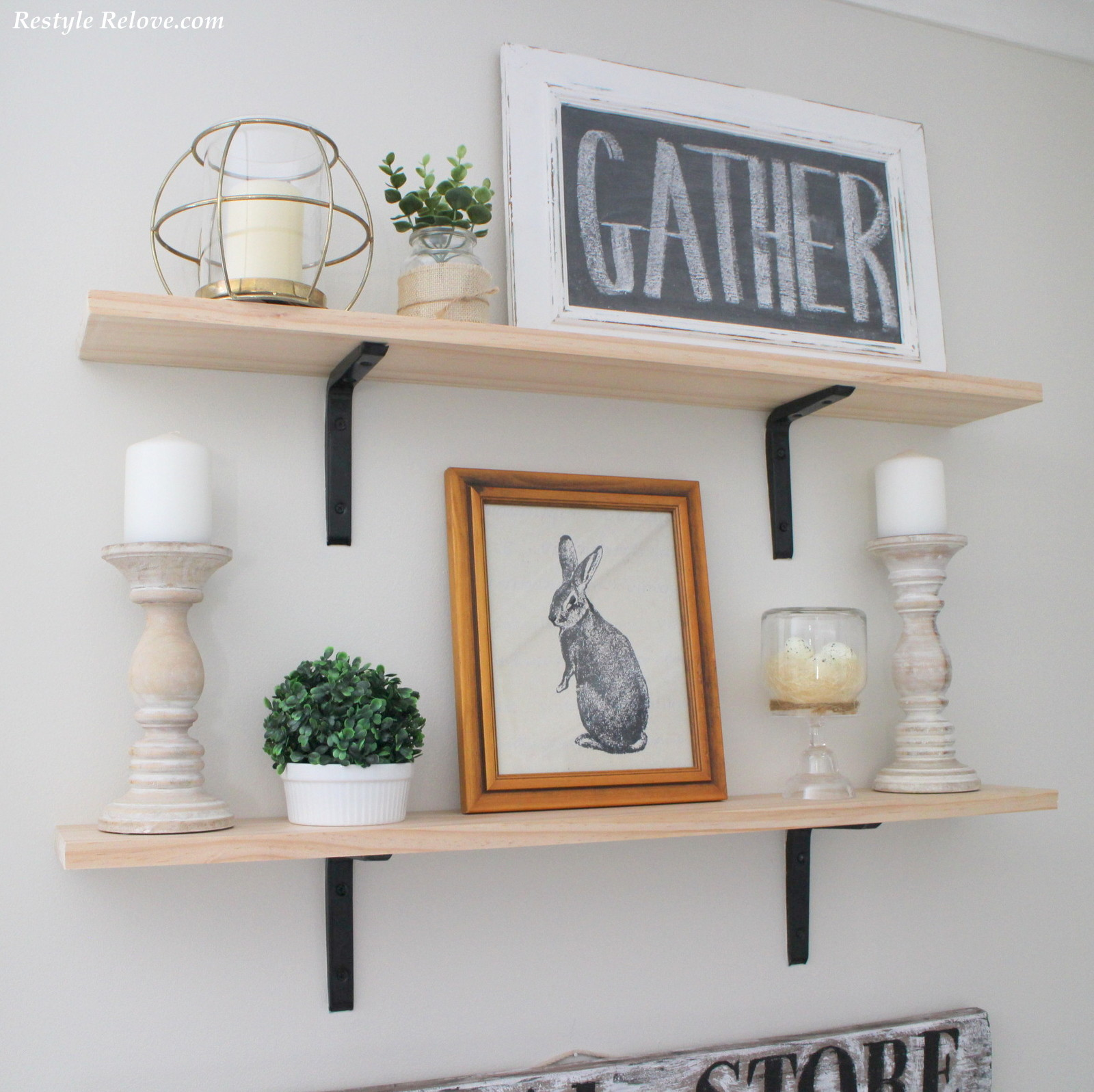Diy farmhouse shelves for 20