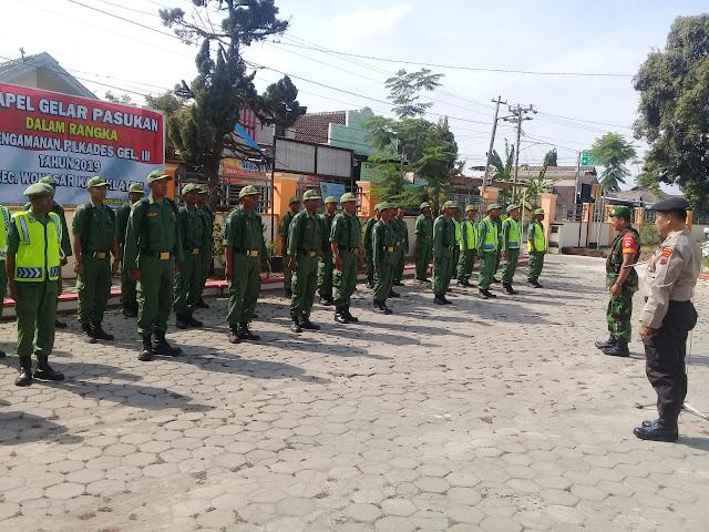 TNI Polri dan Linmas Lakukan Apel Kesiapan Pengamanan Pilkades