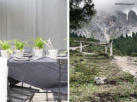 Tischdeko mit Tischkarten aus Zweigen selbstgemacht!