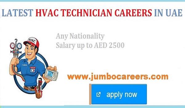 Latest HVAC Technician Jobs in Dubai 2020
