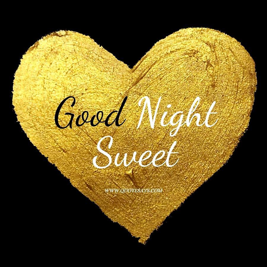 Good Night Golden Heart for Lover