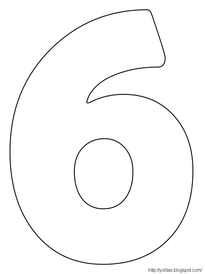 Yolitas Decoraciones: Los numeros para colorear y recortar